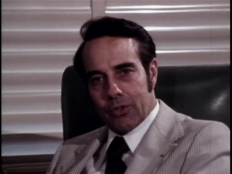senator robert dole makes a comment on the watergate office break in. the watergate incident is a political scandal resulting from the break-in of... - resignation of richard nixon stock videos & royalty-free footage