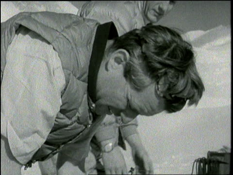 Senator Robert F Kennedy climbs Mt Kennedy in 1965