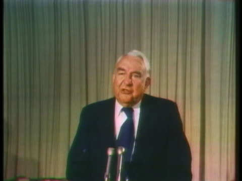 senator sam ervin, jr. says that us president richard nixon's request for a different prosecutor is not necessary. - request stock videos & royalty-free footage