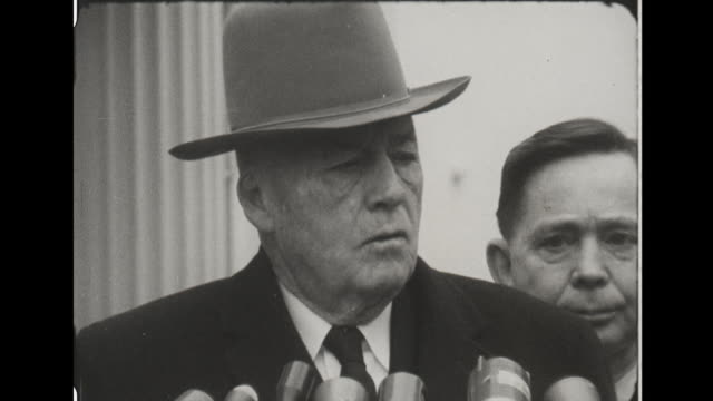 senator sam rayburn speaks to reporters outside white house about agriculture - sam rayburn video stock e b–roll