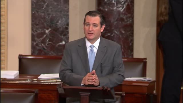 senator ted cruz offers an amendment to education reform bill which would leave standardized testing in the hands of government that is closest to... - us republican party 2016 presidential candidate stock videos & royalty-free footage