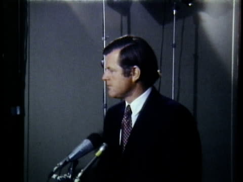 montage us senator ted kennedy giving interview in hallway / washington dc - 1972 stock videos and b-roll footage