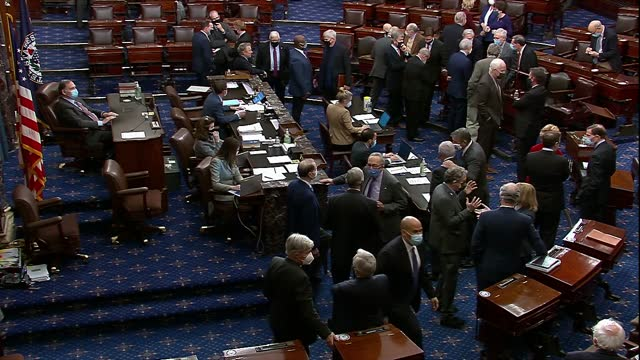 senators are seen on the chamber floor voting on a motion to proceed to consideration of a veto message from president donald trump to the annual... - president stock videos & royalty-free footage