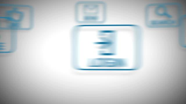vídeos de stock, filmes e b-roll de enviar ícone - send