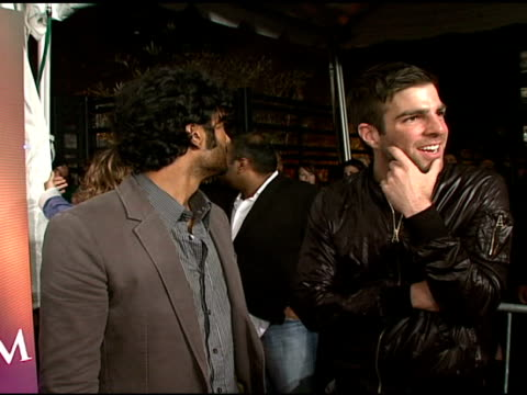 sendhil ramamurthy and zachary quinto at the maxim's 8th annual hot 100 party at ono at the gansevoort hotel in new york new york on may 16 2007 - zachary quinto stock videos and b-roll footage