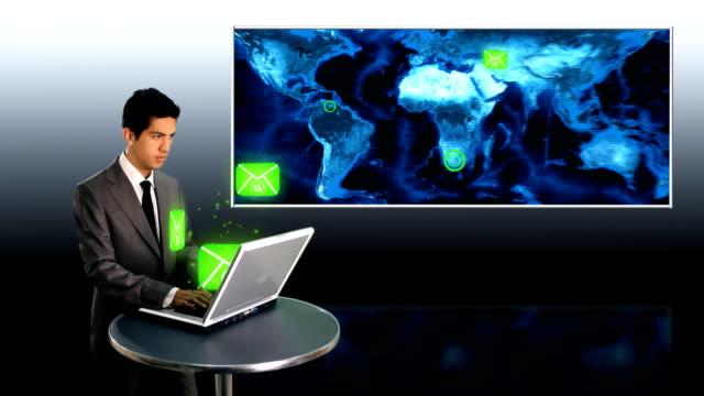 世界中の e メールを送信 - e mail点の映像素材/bロール