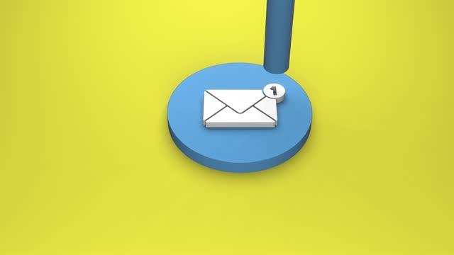 skicka e-post - e post bildbanksvideor och videomaterial från bakom kulisserna