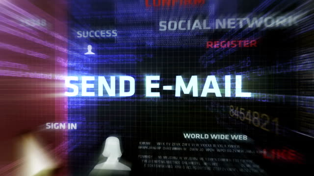 stockvideo's en b-roll-footage met sending e-mail - e mail