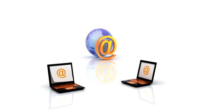vídeos y material grabado en eventos de stock de enviar & recibir mensajes de correo electrónico - dos objetos