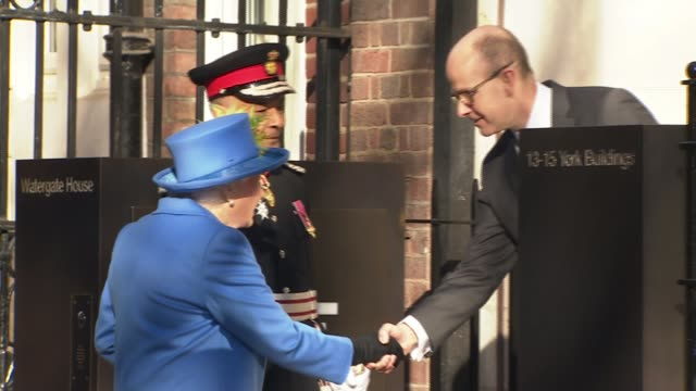 gchq sends code message in tweet to the queen after event marking 100 years of the intelligence agency england london watergate house ext queen... - security code stock videos and b-roll footage