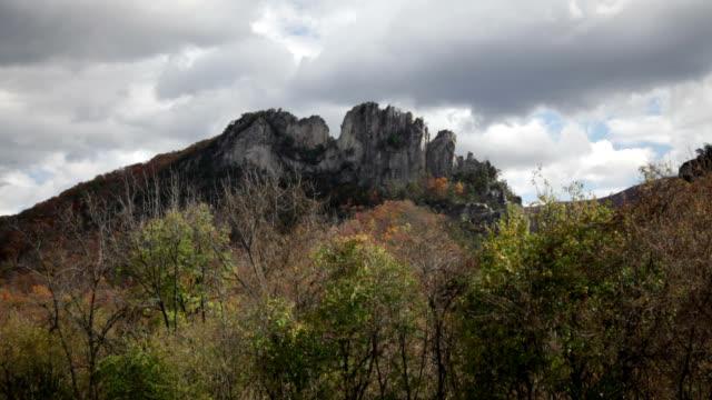 seneca rocks in west virginia - tectonic stock videos & royalty-free footage
