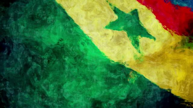 vídeos de stock, filmes e b-roll de senegal bandeira de arte - senegal