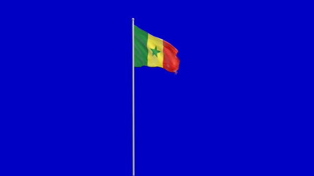 senegalese  flag rising