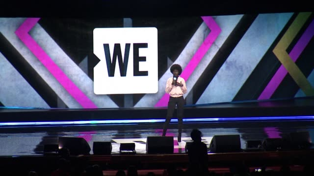 senegalese model khoudia diop at we day new york welcome to celebrate young people changing the world at radio city music hall on april 06, 2017 in... - radio city music hall stock-videos und b-roll-filmmaterial