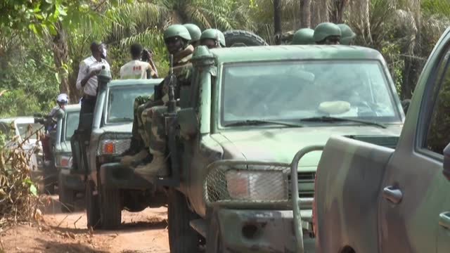 senegal's army shows reporters several rebel bases in the southern region of casamance that it claims to have captured as part of a fresh push... - pushing stock videos & royalty-free footage