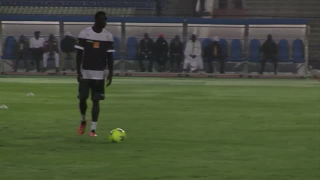 senegals national football team trained in cairo on friday ahead their crucial africa cup of nations qualifying match against the egypt on saturday - qualification round stock videos & royalty-free footage