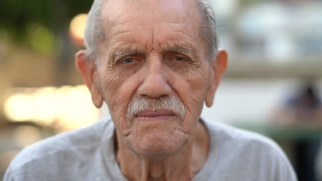 senior adult male laughing portrait; he is 89 years old - pardo brazilian stock videos & royalty-free footage