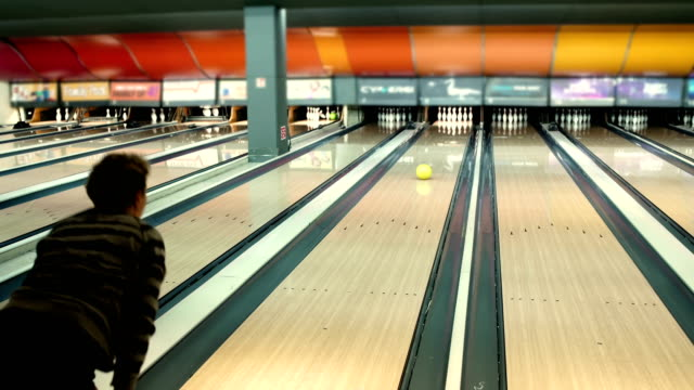 senior adult woman first time on bowling - bowling alley stock videos & royalty-free footage