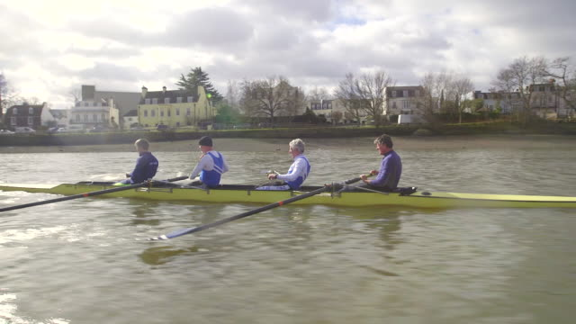 senior adults rowing - rowing stock videos & royalty-free footage