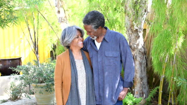 senior african american couple smiling and laughing - 60 64 years stock videos & royalty-free footage