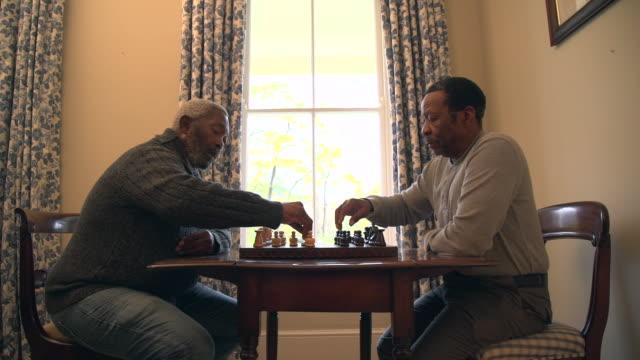 MLS senior African men playing chess/ Cape Town/ South Africa