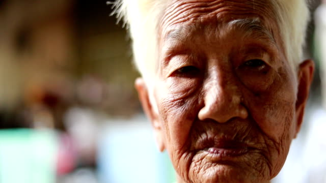 senior asian woman, slow motion - the ageing process stock videos & royalty-free footage