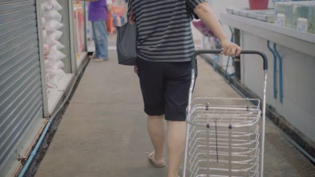 senior asian women are shopping. - donne anziane video stock e b–roll