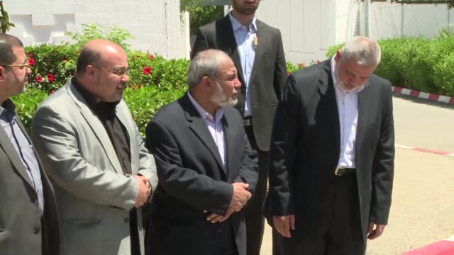 senior cairo based hamas official crossed monday from egypt into the gaza strip ahead of a new attempt to reconcile the militant islamist movement... - palestine liberation organisation stock videos & royalty-free footage