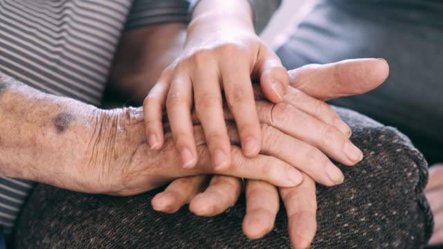 vídeos de stock e filmes b-roll de senior care and affection - pessoas com deficiência