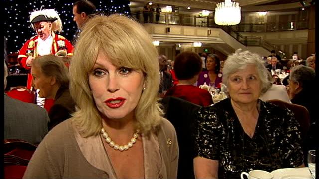 senior citizens attempt to set world record for mass teadance joanna lumley interview sot - joanna lumley stock videos & royalty-free footage