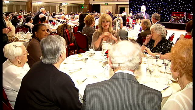 senior citizens attempt to set world record for mass teadance lumley and pensioners sat at table talking / people sat at tables / tea being served /... - world record stock videos & royalty-free footage