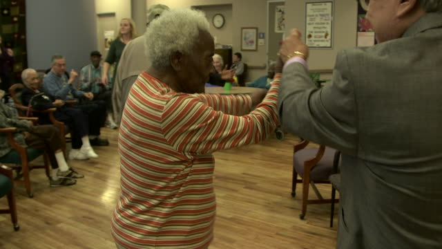 senior citizens dance assisted living center - sheltered housing stock videos & royalty-free footage