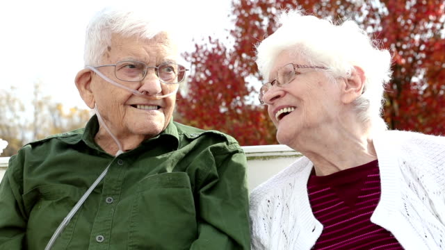 senior citizens enjoying conversation - oxygen stock videos & royalty-free footage