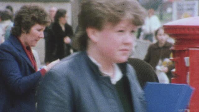 vídeos de stock, filmes e b-roll de 1983 montage senior citizens going about daily routines / united kingdom - collection