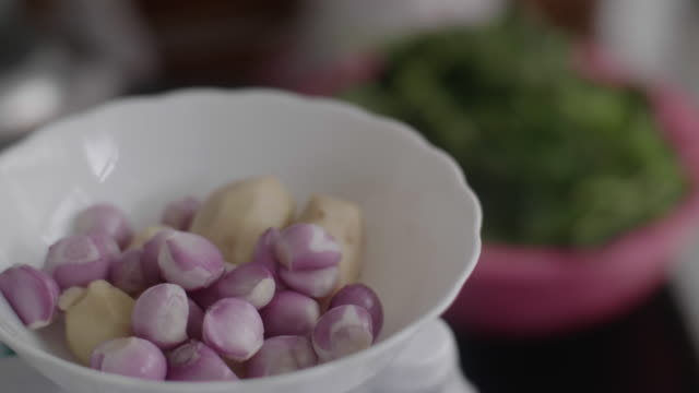 senior cooking - shallot stock videos & royalty-free footage