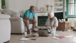 Senior Couple Considering Options for Changes to Home Decor