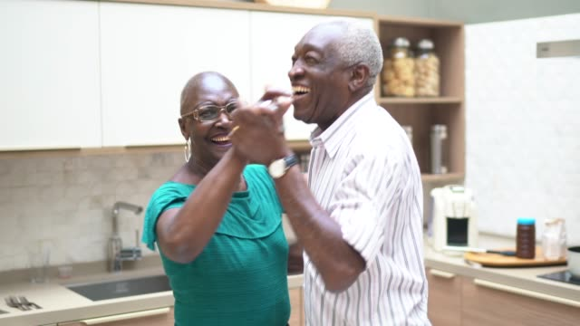 senior couple dancing at home - husband stock videos & royalty-free footage
