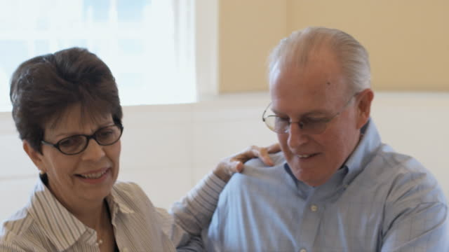 SLO MO, CU, Senior couple dancing, Hingham, Massachusetts, USA