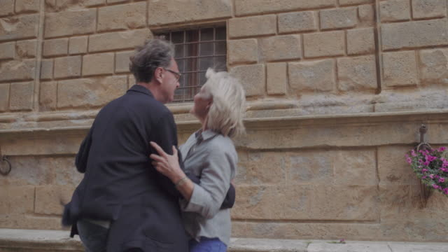 senior couple dancing outdoors - security bar stock videos and b-roll footage