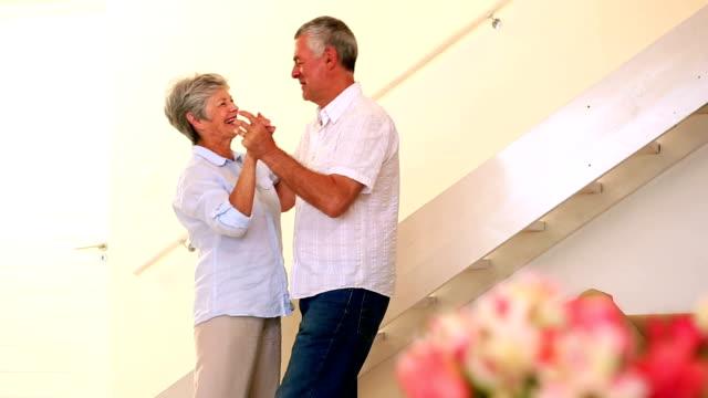 senior couple dancing together - ballroom dancing stock videos & royalty-free footage
