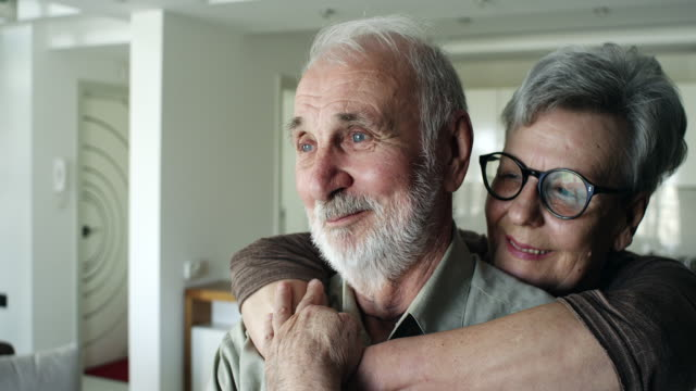 senior couple enjoying time spent together - real people stock videos & royalty-free footage
