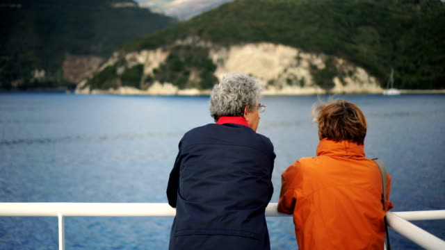 Senior couple on ferry