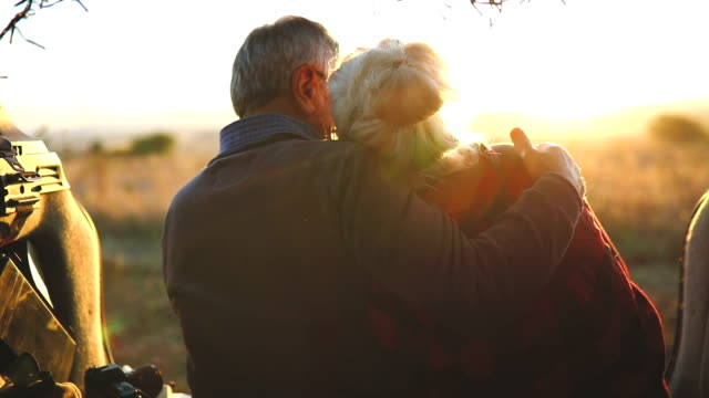 senior couple outdoors with car - active seniors stock videos & royalty-free footage
