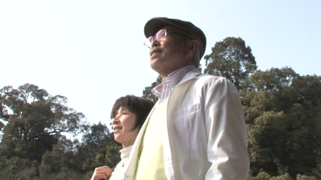 LA Senior couple taking a walk