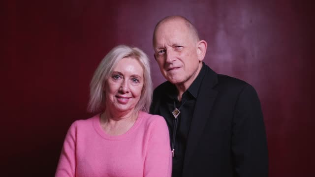 senior couple turning to look at camera - video portrait stock videos & royalty-free footage