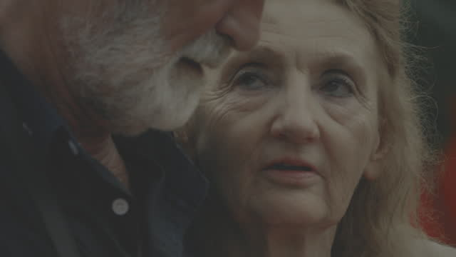 senior couple - consoling stock videos & royalty-free footage