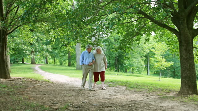 Senior Couple Walk in the Park