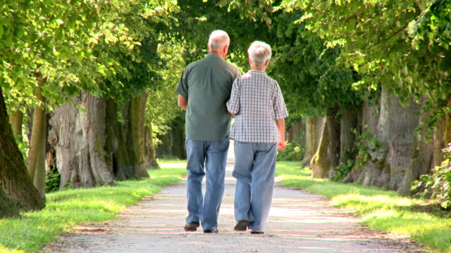 hd: senior couple walking down the road - leisure activity stock videos & royalty-free footage