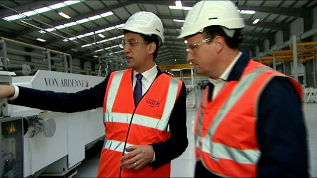 senior daily mail journalist says miliband article was wrongly labelled; england: merseyside; st helens: pilkington glass: int labour party leader ed... - daily mail stock videos & royalty-free footage