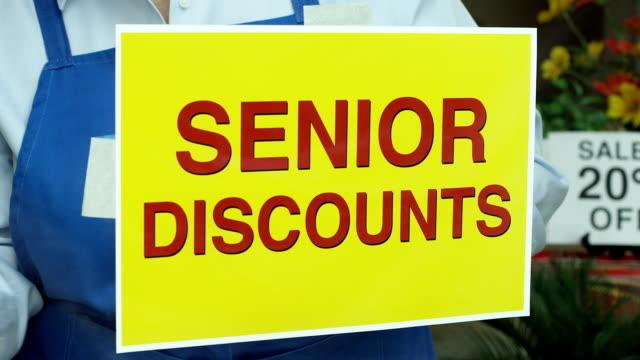 Senior Discount Store Sign